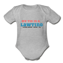 Load image into Gallery viewer, Future Lawtino Tio, Organic Short Sleeve Baby Bodysuit - heather gray