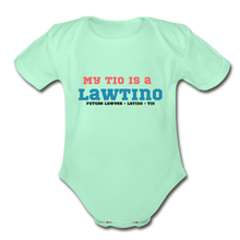 Load image into Gallery viewer, Future Lawtino Tio, Organic Short Sleeve Baby Bodysuit - light mint