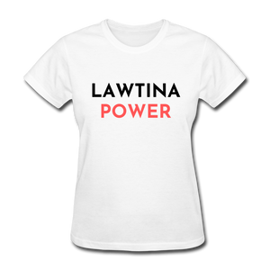 Lawtina Power, Women's T-Shirt - white