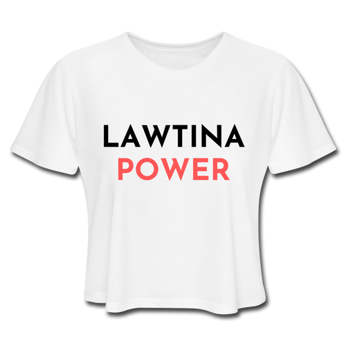Latina Power, Women's Cropped T-Shirt - white