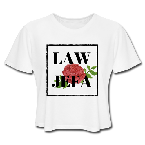 Law Jefa, Women's Cropped T-Shirt - white