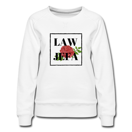 Law Jefa, Women's Premium Sweatshirt - white