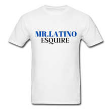 Load image into Gallery viewer, Mr. Latino Esquire, Men's T-Shirt - white