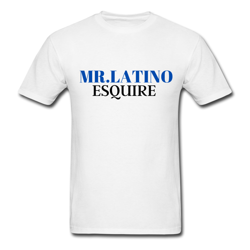 Mr. Latino Esquire, Men's T-Shirt - white