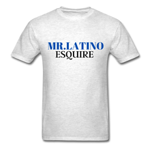 Load image into Gallery viewer, Mr. Latino Esquire, Men's T-Shirt - light heather gray