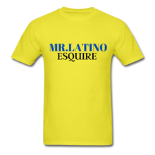 Load image into Gallery viewer, Mr. Latino Esquire, Men's T-Shirt - yellow