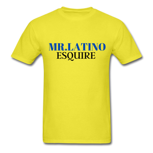 Mr. Latino Esquire, Men's T-Shirt - yellow