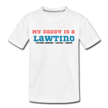 Load image into Gallery viewer, Future Lawtino Daddy, Toddler Premium T-Shirt - white