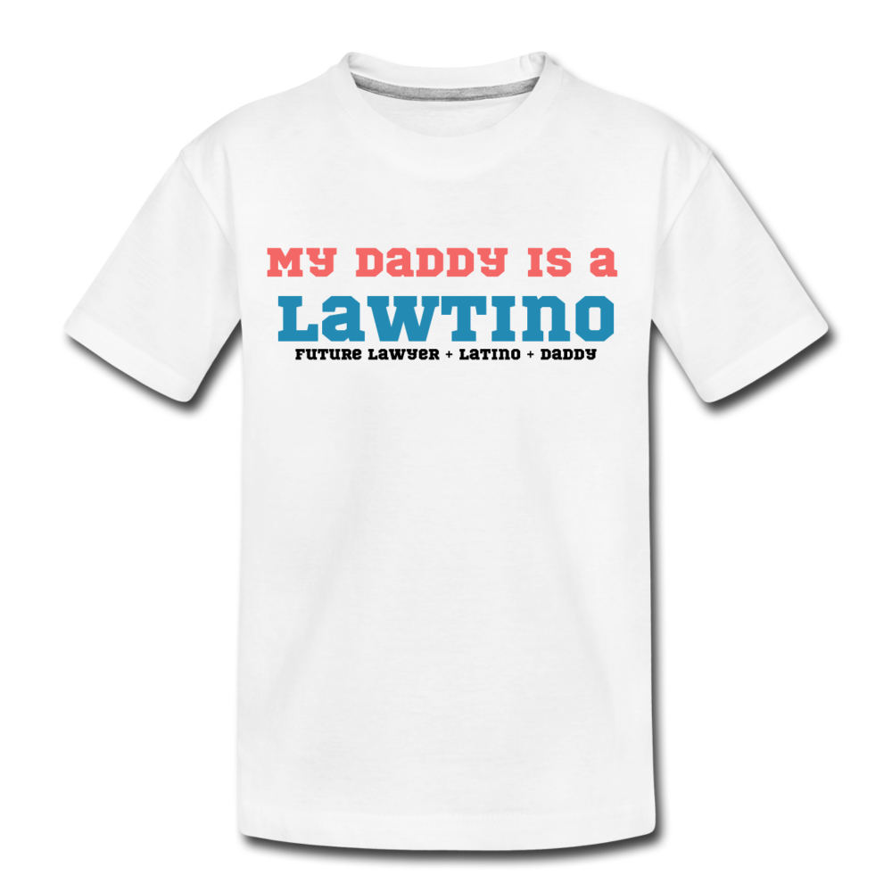 Future Lawtino Daddy, Toddler Premium T-Shirt - white