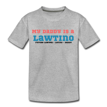 Load image into Gallery viewer, Future Lawtino Daddy, Toddler Premium T-Shirt - heather gray