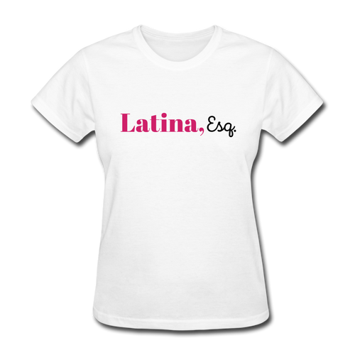 Latina, Esq. Women's T-Shirt - white