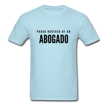 Load image into Gallery viewer, Proud Brother of an Abogado, Unisex Classic T-Shirt - powder blue