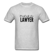 Load image into Gallery viewer, Proud Wife of a Lawyer, Unisex Classic T-Shirt - heather gray