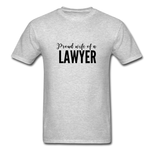 Proud Wife of a Lawyer, Unisex Classic T-Shirt - heather gray