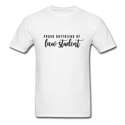 Proud Boyfriend of a Law Student, Unisex Classic T-Shirt - white