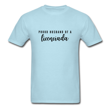 Load image into Gallery viewer, Proud Husband of a Licenciada, Unisex Classic T-Shirt - powder blue