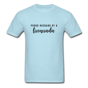 Proud Husband of a Licenciada, Unisex Classic T-Shirt - powder blue
