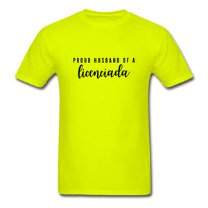 Proud Husband of a Licenciada, Unisex Classic T-Shirt - safety green