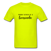Load image into Gallery viewer, Proud Father of a Licenciada, Unisex Classic T-Shirt - safety green