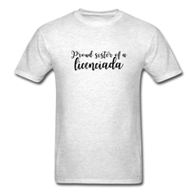 Load image into Gallery viewer, Proud Sister of a Licenciada, Unisex Classic T-Shirt - light heather gray
