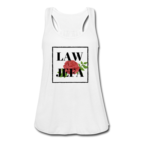 Law Jefa, Women's Flowy Tank Top by Bella - white