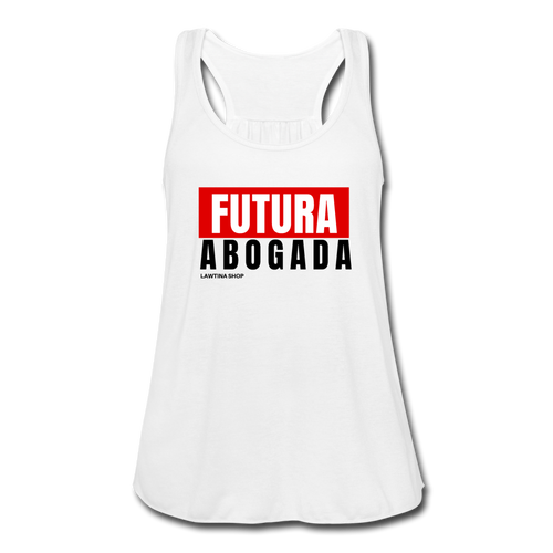 Futura Abogada, Women's Flowy Tank Top by Bella - white