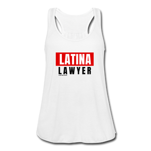 Latina Lawyer, Women's Flowy Tank Top by Bella - white