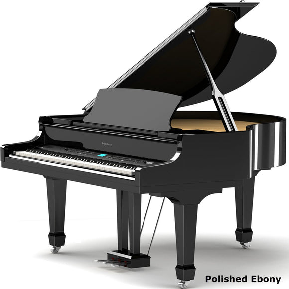 Broadway MK11 digital baby grand piano and self-play feature with moving keys (polished ebony)