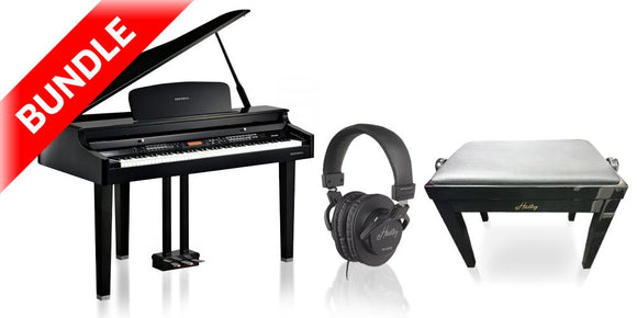 Bundle 3: Kurzweil MPG100 Digital Baby Grand Piano