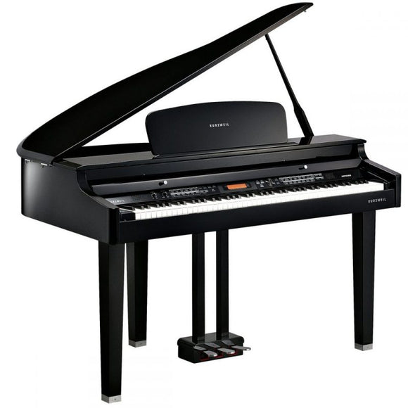 Kurzweil MPG100 Digital Baby Grand Piano – Polished Ebony
