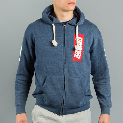 East/West Zip Hoodie – Navy Melange