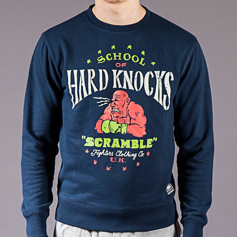 "Scramble ""Hard Knocks"" Crewneck Sweater"