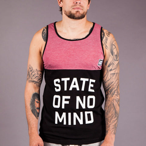 Scramble 'State of No Mind' Tank Top - Red