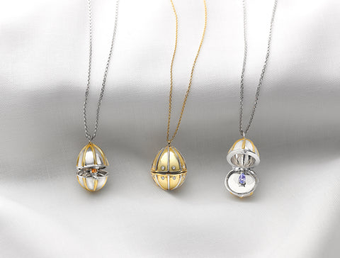 faberge egg pendants russian collection birthstone