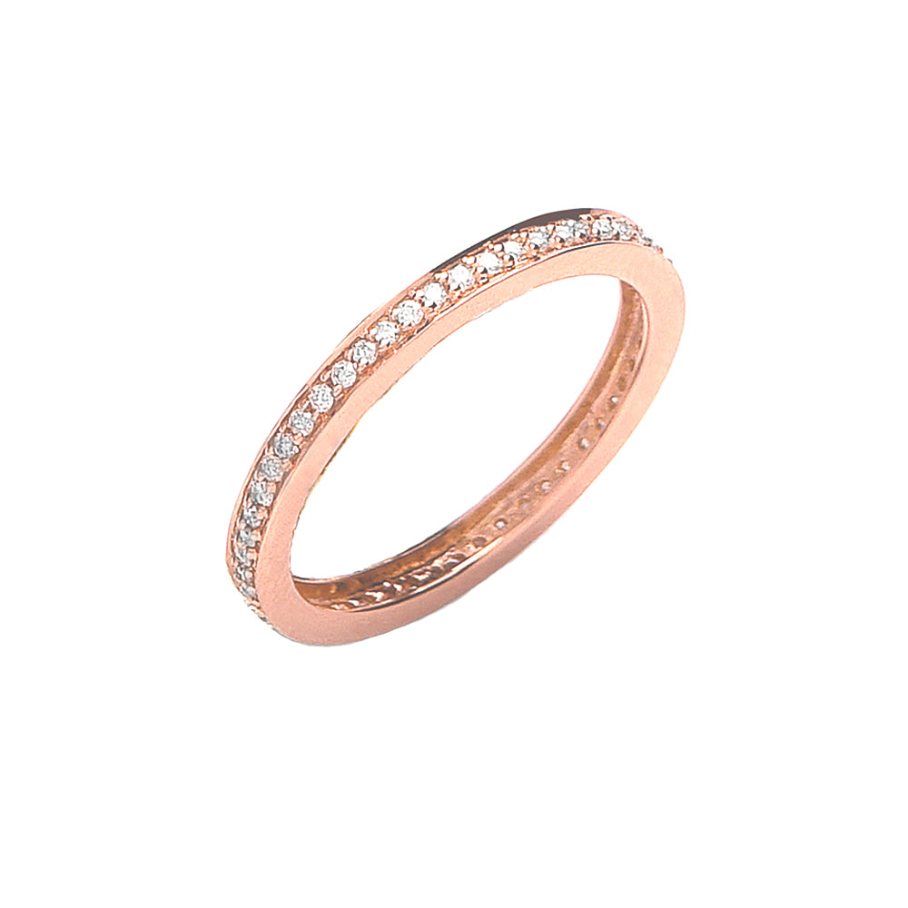 18ct Rose Gold Full Eternity Ring