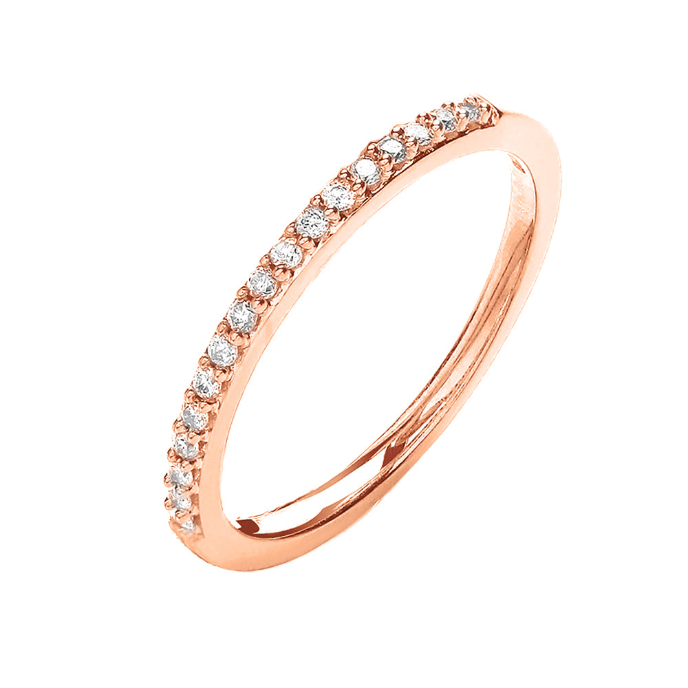 18ct Rose Gold Half Eternity Ring