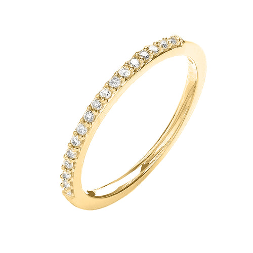 18ct Yellow Gold Half Eternity Ring