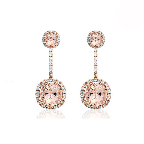 Rose Gold Morganite Drop Earrings