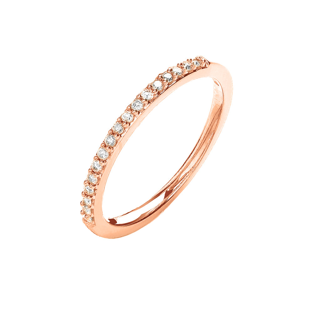 9ct Rose Gold Delicate Eternity Ring