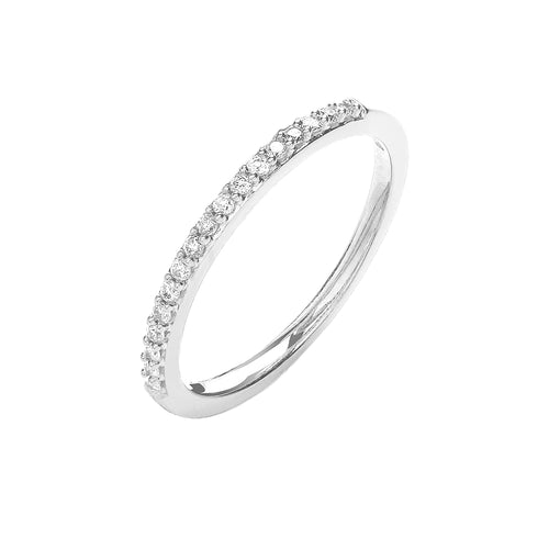 9ct White Gold Delicate Eternity Ring