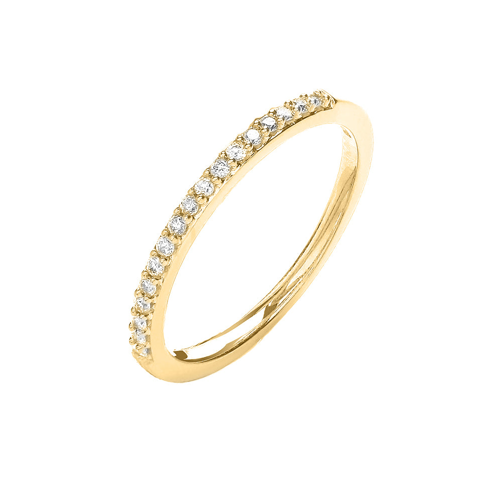 9ct Yellow Gold Delicate Eternity Ring
