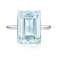 Load image into Gallery viewer, Aquamarine Octagon Ring