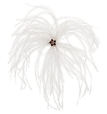 Ostrich Feather Brooch