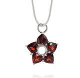 Necklace of Garnet Hearts