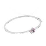 Bangle in Pink Sapphire, Ruby and Diamond