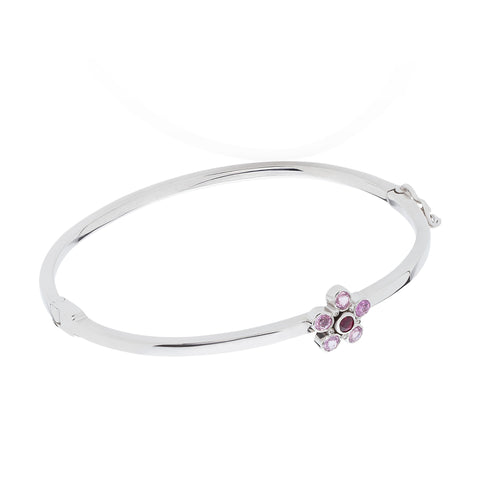 pink sapphire ruby diamond bangle