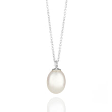 Load image into Gallery viewer, Pearl Drop White Gold Necklace