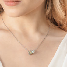 Load image into Gallery viewer, Green Amethyst Silver Gemstone Necklace | The Como Collection | Augustine Jewels