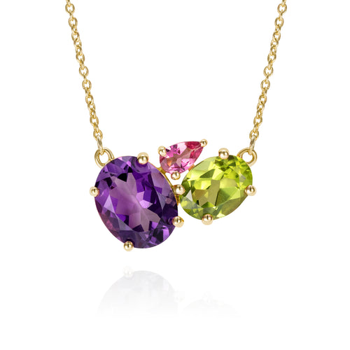 Gold Amethyst Gemstone Necklace | The Como Collection | Augustine Jewels