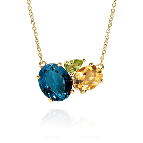 Topaz Gold Gemstone Necklace | The Como Collection | Augustine Jewels